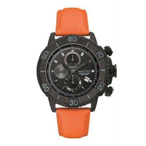 Relógio Masculino Náutica A21533G Laranja