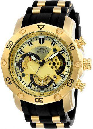Relógio Masculino Invicta Pro Diver 23427 Dourado