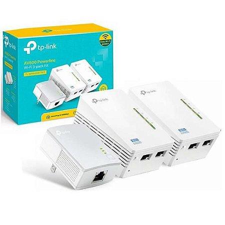 Repetidor de Sinal Wi-Fi TP-Link AV600 POWERLINETL-WPA4220T Kit de 300MBPS