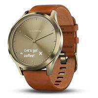 Smartwatch Unissex Garmin Vivomove HR 010-01850-05 Couro Bege