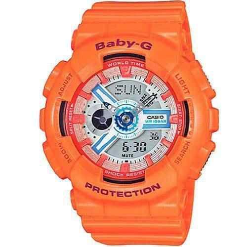 Relógio Feminino Casio Baby-G BA-110SN-4ADR Laranja