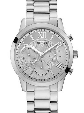 Relógio Feminino Guess Solar W1070L1 Prata