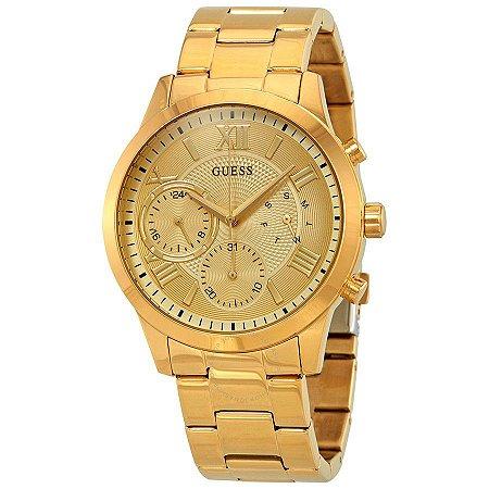 Relógio Feminino Guess Solar W1070L2 Dourado