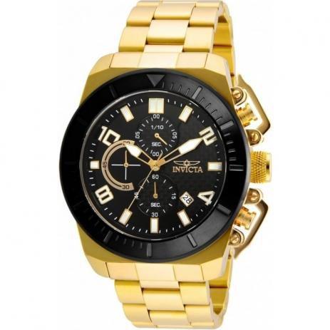 Relógio Masculino Invicta Pro Diver 23406 Dourado