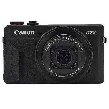 "Câmera Digital Canon PowerShot G7X Mark II 20.1MP 3.0"""