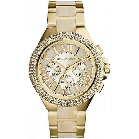 c34e95f5974 Relógio Feminino Michael Kors MK5902 Dourado cravejado - Mimports ...