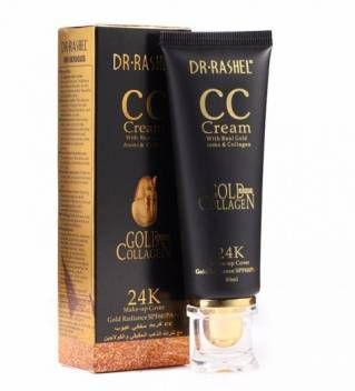 Creme Com Base Natural Dr-Rashel 24K CC Cream Para Clarear a Pele sem Colágeno SPF60 50ml