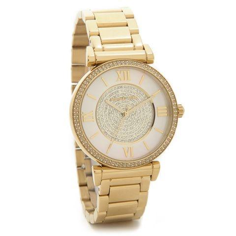 Relógio Feminino Michael Kors MK3332 Dourado Cravejado