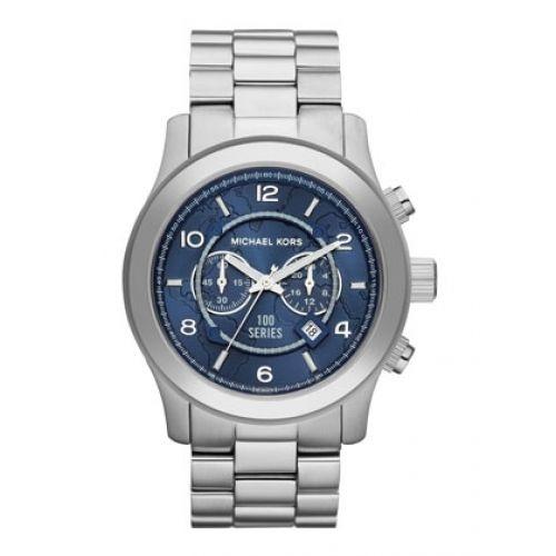 Relógio Feminino Michael Kors MK8314 Prata com Fundo Azul