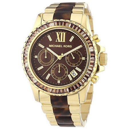 Relógio Feminino Michael Kors MK5873 Everest Cristais Tortose