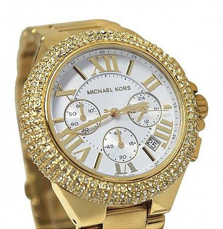 cac654b0345ba Relógio Feminino Michael Kors MK5756 Dourado - Mimports - Produtos e ...