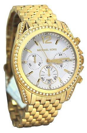 Relógio Feminino Michael Kors MK5835 Dourado Cravejado