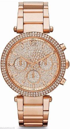 Relógio Feminino Michael Kors MK5857 Rose Cravejado