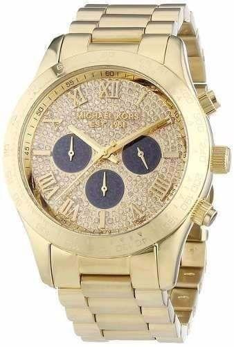 Relógio Feminino Michael Kors MK5830 Layton Gold Stras