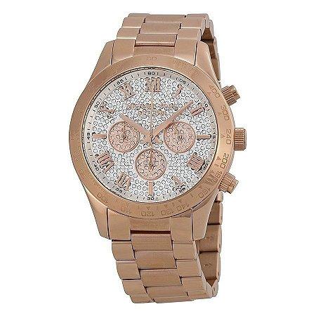 Relógio Feminino Michael Kors Mk5946 Rose Cravejado Internamente