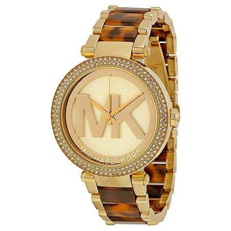 Relógio Feminino Micahel Kors MK6109 Dourado Cravejado