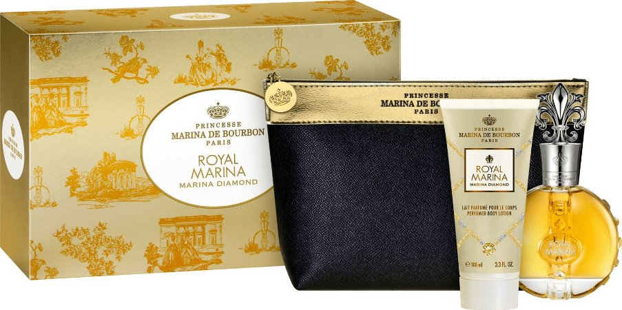 Kit Perfume Royal Marina Diamond Marina de Bourbon Edp 100ml + Loção Corporal 100ml + Nécessaire