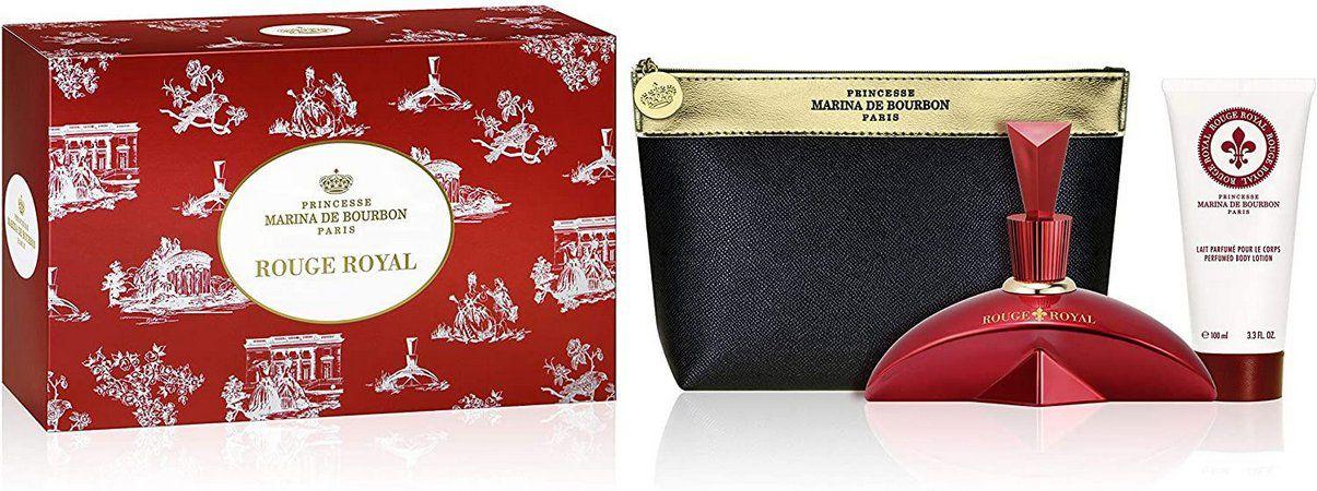 KIT Perfume Rouge Royal Eau De Parfum 100ml + Loção Corporal 100ml + Nécessaire