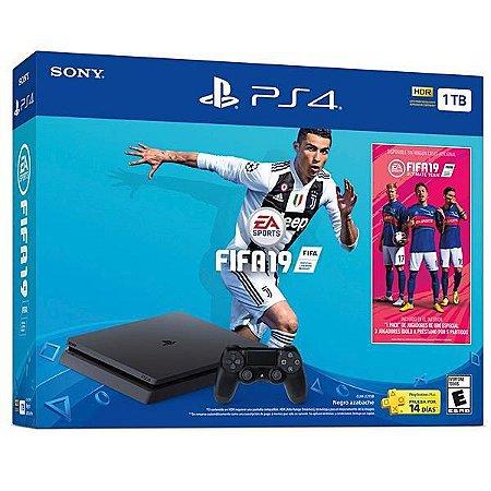 Caixa para PlayStation 4 Slim Sony CUH-2215B - FIFA 19