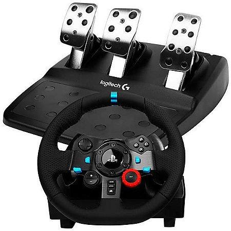 Volante Logitech Driving Force G29 941000110 para PlayStation 3 e 4 Bivolt Preto