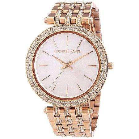 Relógio Feminino Michael Kors MK3220 Rose Cravejado