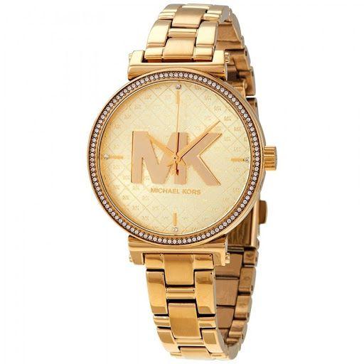 Relógio Feminino Michael Kors MK4334 Dourado Cravejado