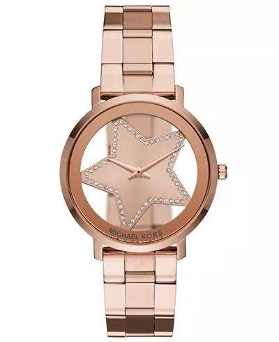 Relógio Feminino Michael Kors MK3816 Rosê Estrela