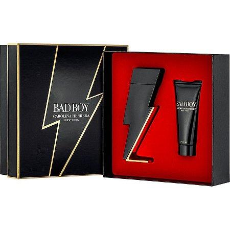 Kit Perfume Feminino Carolina Herrera Bad Boy Edt 100ml + Gel de Banho