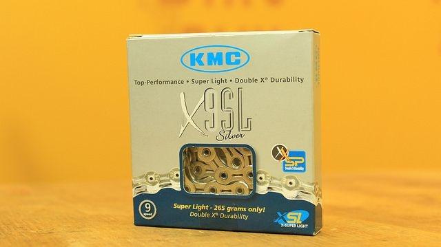 CORRENTE KMC X-9SL Ti-N PRATA OU DOURADA 9VEL 116L