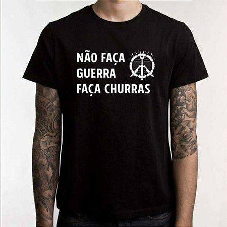 """Camiseta Chefn' Boss: """"Não faça guerra, faça churras"""""""