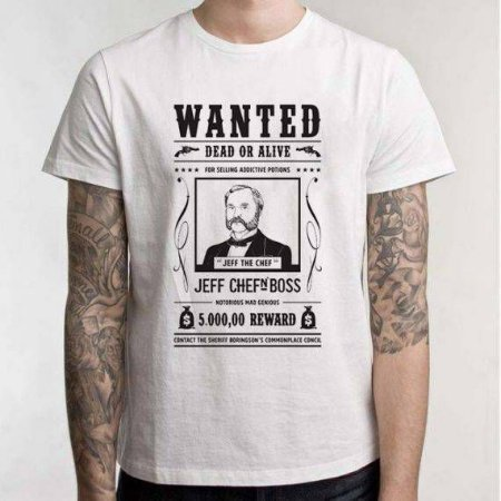 "Camiseta Chefn' Boss: ""Wanted"""