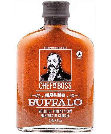 Molho de pimenta Buffalo: o primeiro do Brasil (EMBALAGEM VIDRO 160ML)