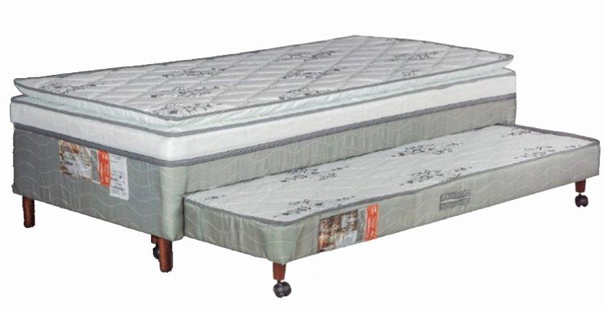 CAMA ALLFLEX BOX C/AUXILIAR LUXO 88X188X40
