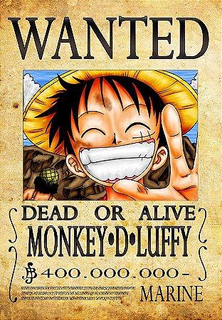 Banner Luffy D Monkey Procurado
