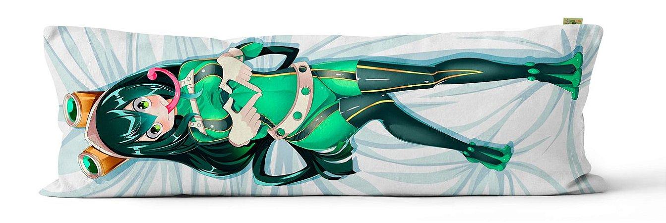 Capa Dakimakura Tsuyu de Boku no Hero Academia