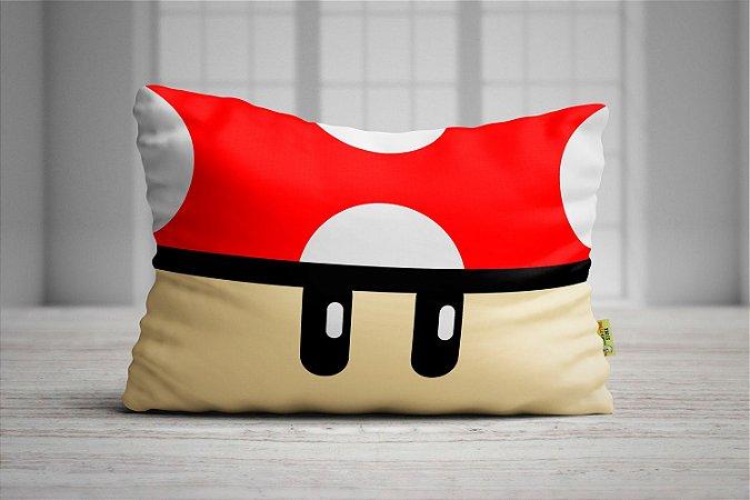 Fronha Travesseiro Super Mario Bros Cogumelo Vermelho