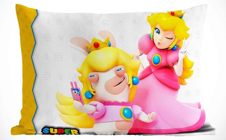 Fronha Travesseiro Super mario Bros Princesa Peach
