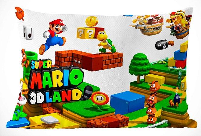 Fronha Travesseiro Super Mario Bros Mario 3D Land
