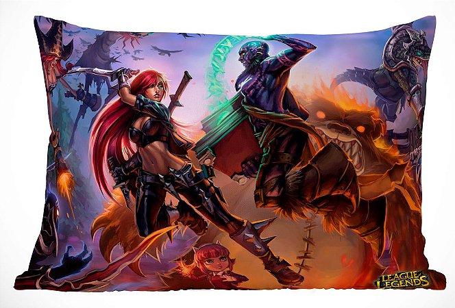Fronha Travesseiro LOL Champions Katarina VS Rize