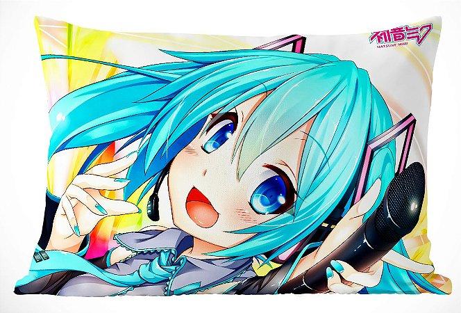 Fronha Travesseiro Vocaloid Hatsune Miku Microfone