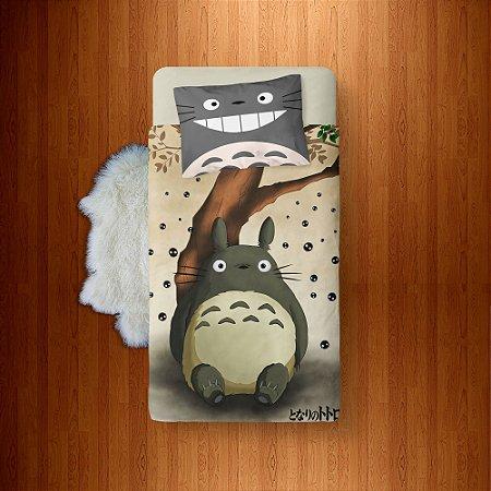Lençol Solteiro e fronha Tonari no Totoro - Totoro