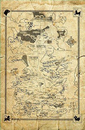 Cortina Game Of Thrones Mapa