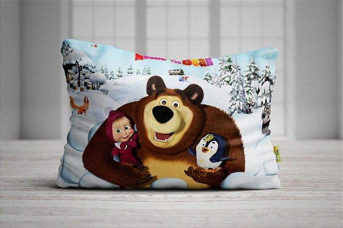 Fronha Travesseiro Masha e o Urso