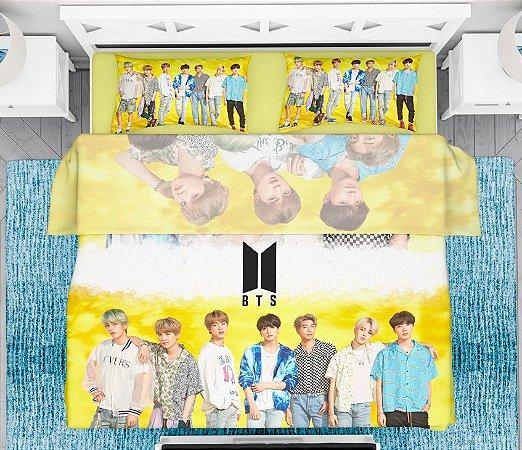 Lençol e fronha Kpop BTS Lights