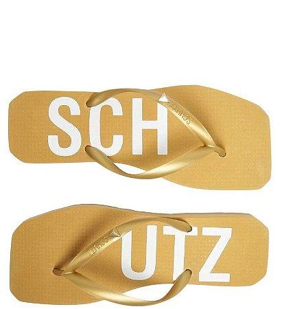 Chinelo Flip Flip Jellys Schutz (BU7229) Laminado Ouro