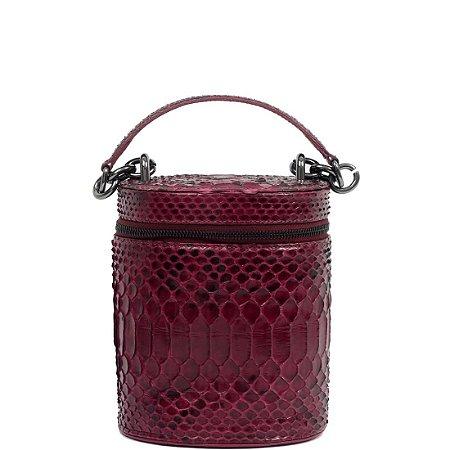 Bolsa de Python Cláudia Mourão (BH3671)Lezard Vermelho