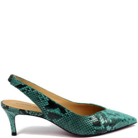 Scarpin Python Cláudia Mourão (AR8976) Lezard Azul