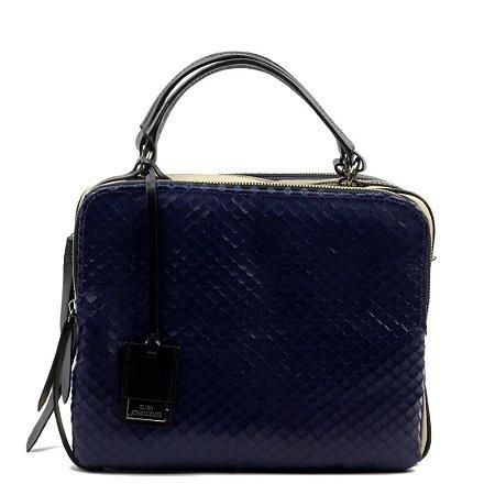 Bolsa Elisa Atheniense (BM0979) Couro Azul