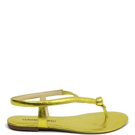 Rasteira Cláudia Mourão (BM5694) Amarelo