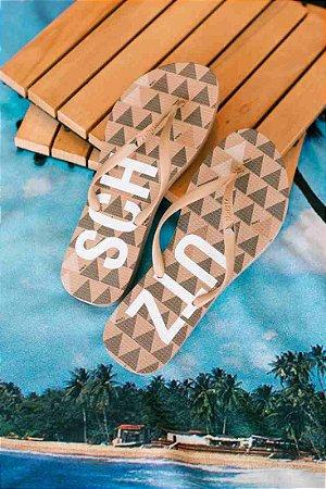 Chinelo Flip Flops Schutz (BO1004) Bege